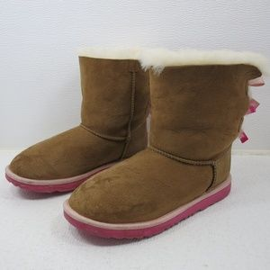 UGG Bailey Bow II Pink Australia Insulated Winter